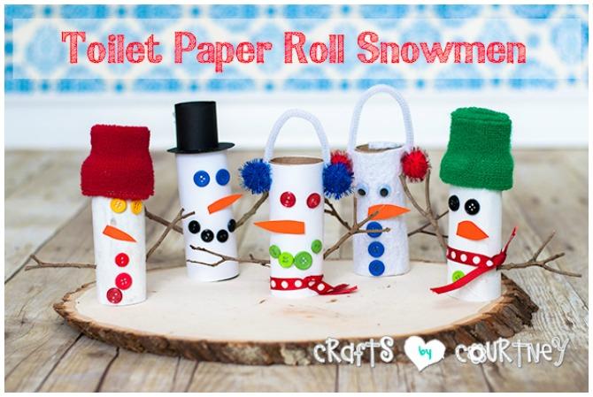 Toilet roll Snowman craft