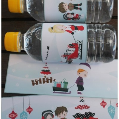 Easy Christmas Water Bottle Labels The Kids Will Love