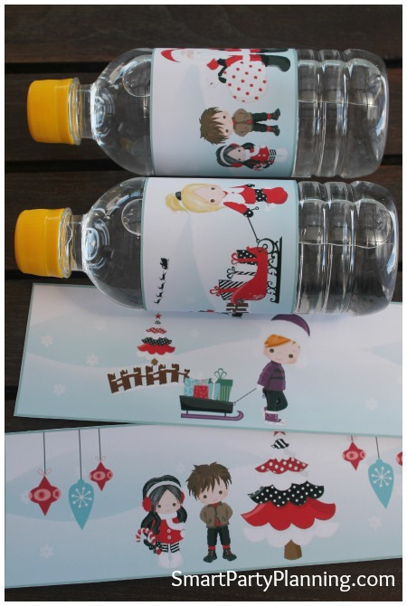 Christmas Labels for Water Bottle Labels