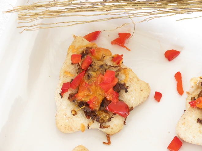 Christmas Mushroom Pizza Appetizers I Smart Party Planning