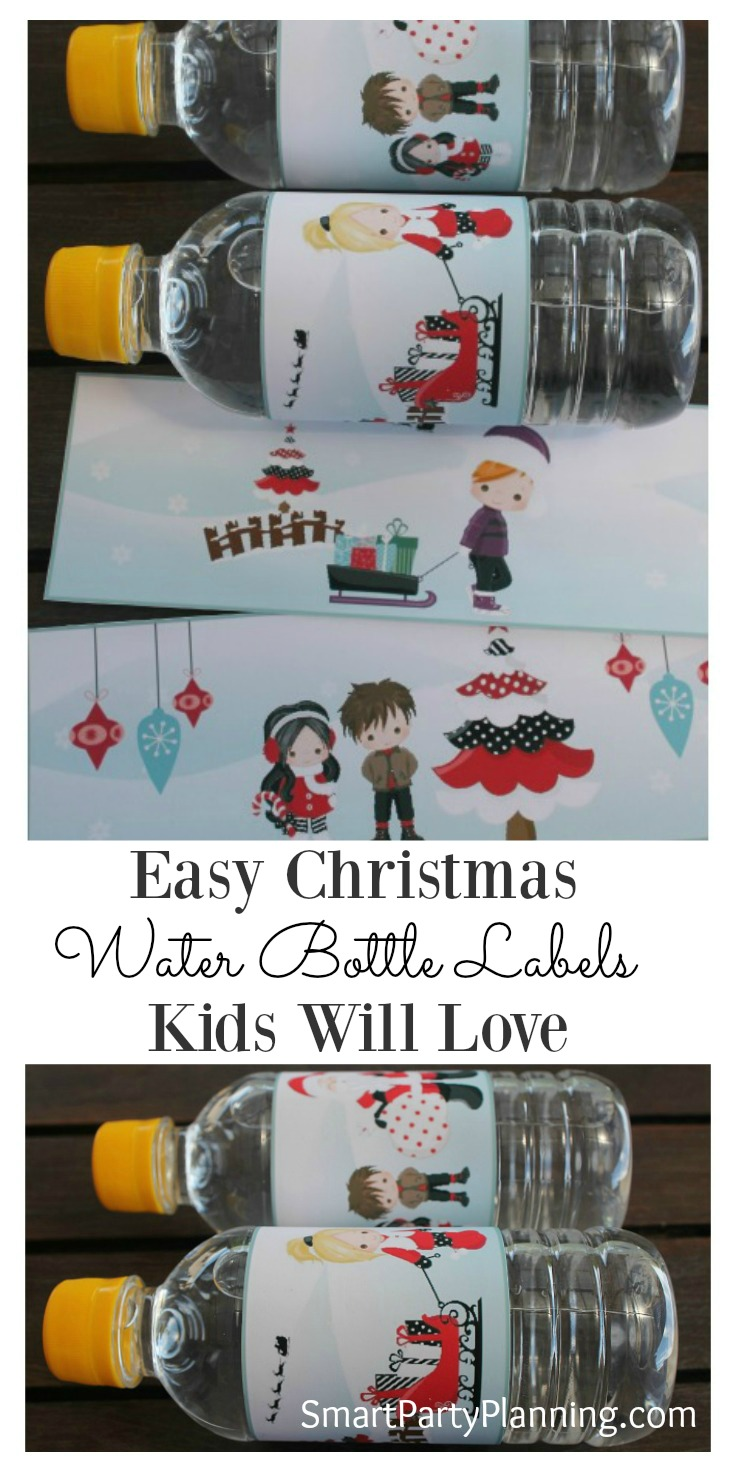 Christmas water bottle labels are a great way to create a bit of excitement for the kids when they open their school lunches. Even if you are not normally into crafting, printable's are SO easy to use and make a huge impact. They are also great to use as favors if you are having a Christmas party.