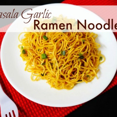 How To Make Masala Garlic Ramen Noodles