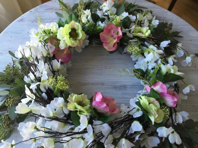 Flowery St Patrick's Wreath