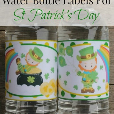 Leprechaun Water Bottle Labels For St Patrick's Day