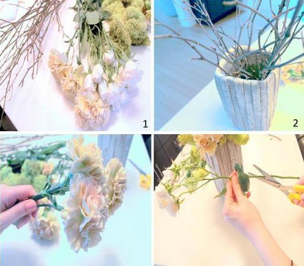 Flower arrangement for an Easter Table