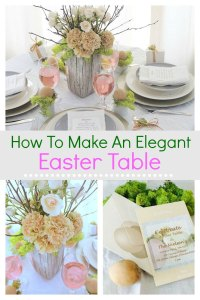 How to make a simple elegant Easter table