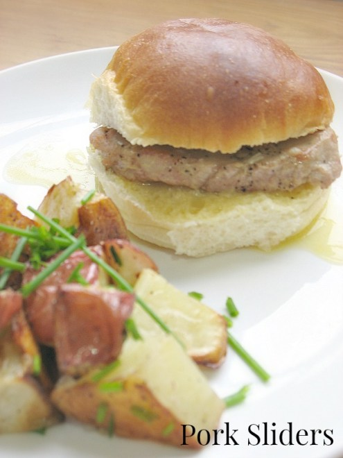 Easy Pork Sliders Roasted Potato Salad #Easter Recipe