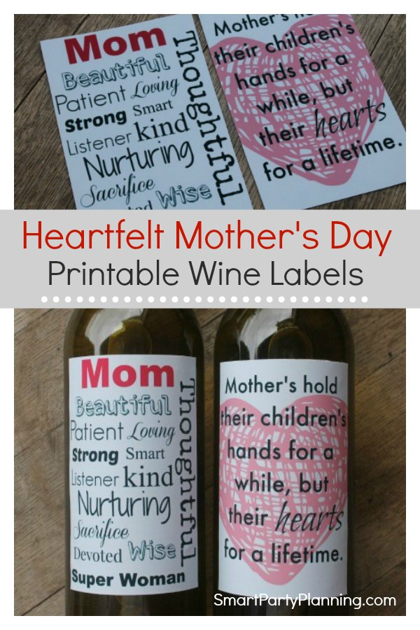 Delight your mom with this set of heartfelt printable Mother's day wine labels. With simple quotes but powerful meanings, this is the only gift mom needs. Paired with her favorite wine, this is an easy gift that she will love. #Mothersday #Printable #Winelabels #Giftformom #Winegift #Wineprintable