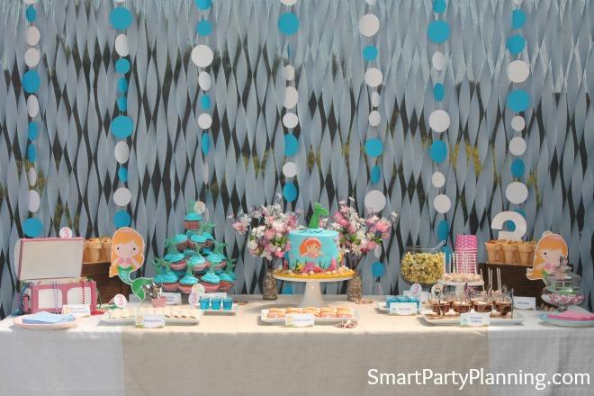 Mermaid Party Table