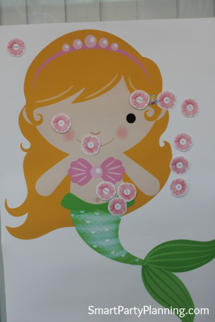 Pin the flower on the mermaid