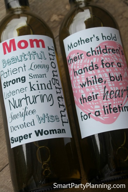 Heartfelt printable Wine Labels