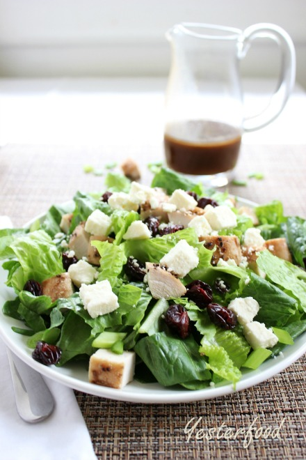 Smoked Turkey Cherry and Feta Salad