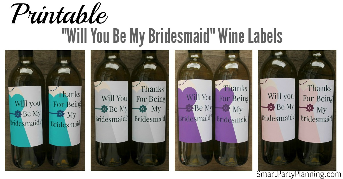 Bridesmaid Wine Labels Facebook