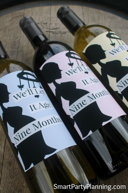 Gender reveal wine labels