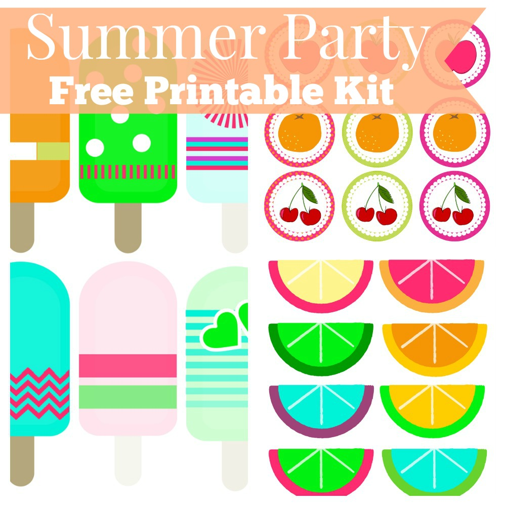 Summer Party Free Printable Kit