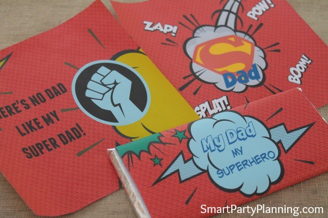 3 printable super dad hershey bar wrappers