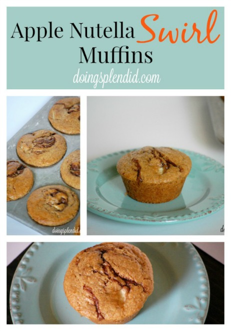 apple nutella muffins