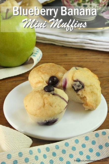 Blueberry banana mini muffins