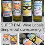 Cool wine labels for Superdad