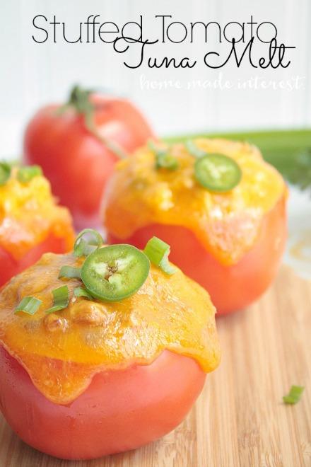 Stuffed Tomato Tuna Melt