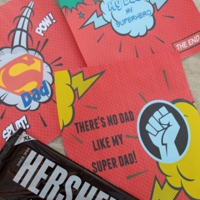 The Best Superhero Dad Hershey Bar Wrappers