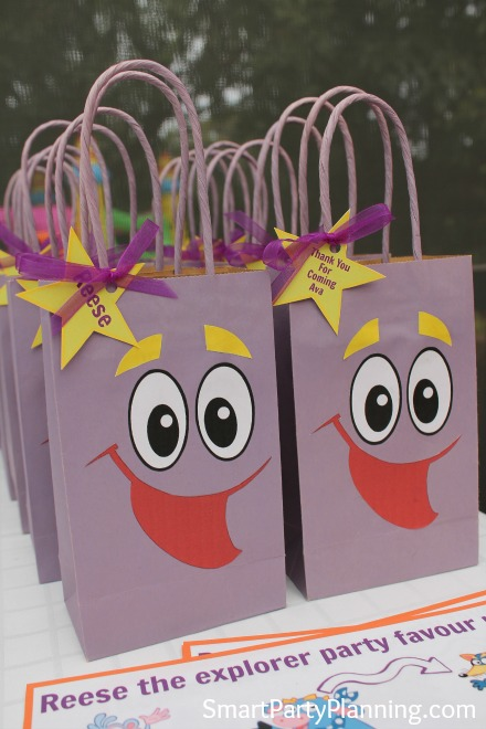 Backpack party favors