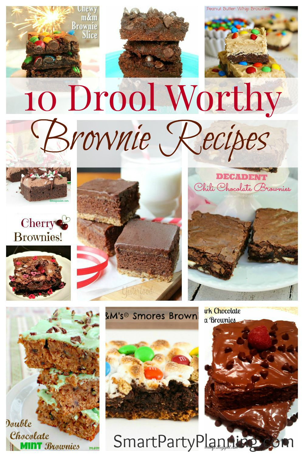 10 Drool Worthy Brownie Recipes