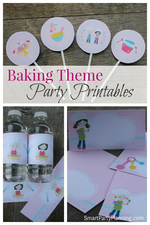 Baking Theme Party Printables