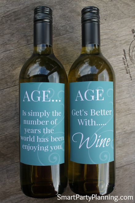 Printable Age Wine Labels
