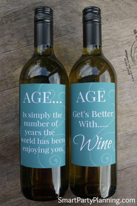 Printable Age Wine Labels