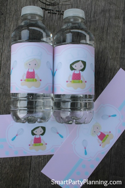 Printable Bakers Water Bottle Labels