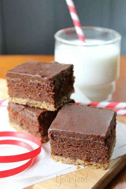 Triple Layer Oatmeal Cookie Brownies by Yesterfood 4