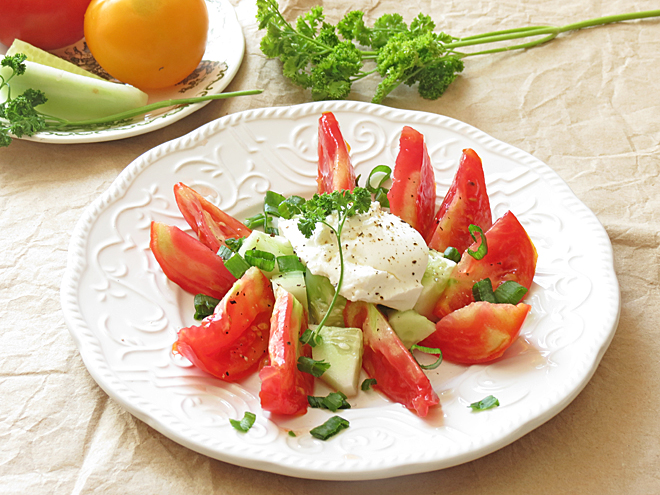 Cucumber Tomato Salad Recipe