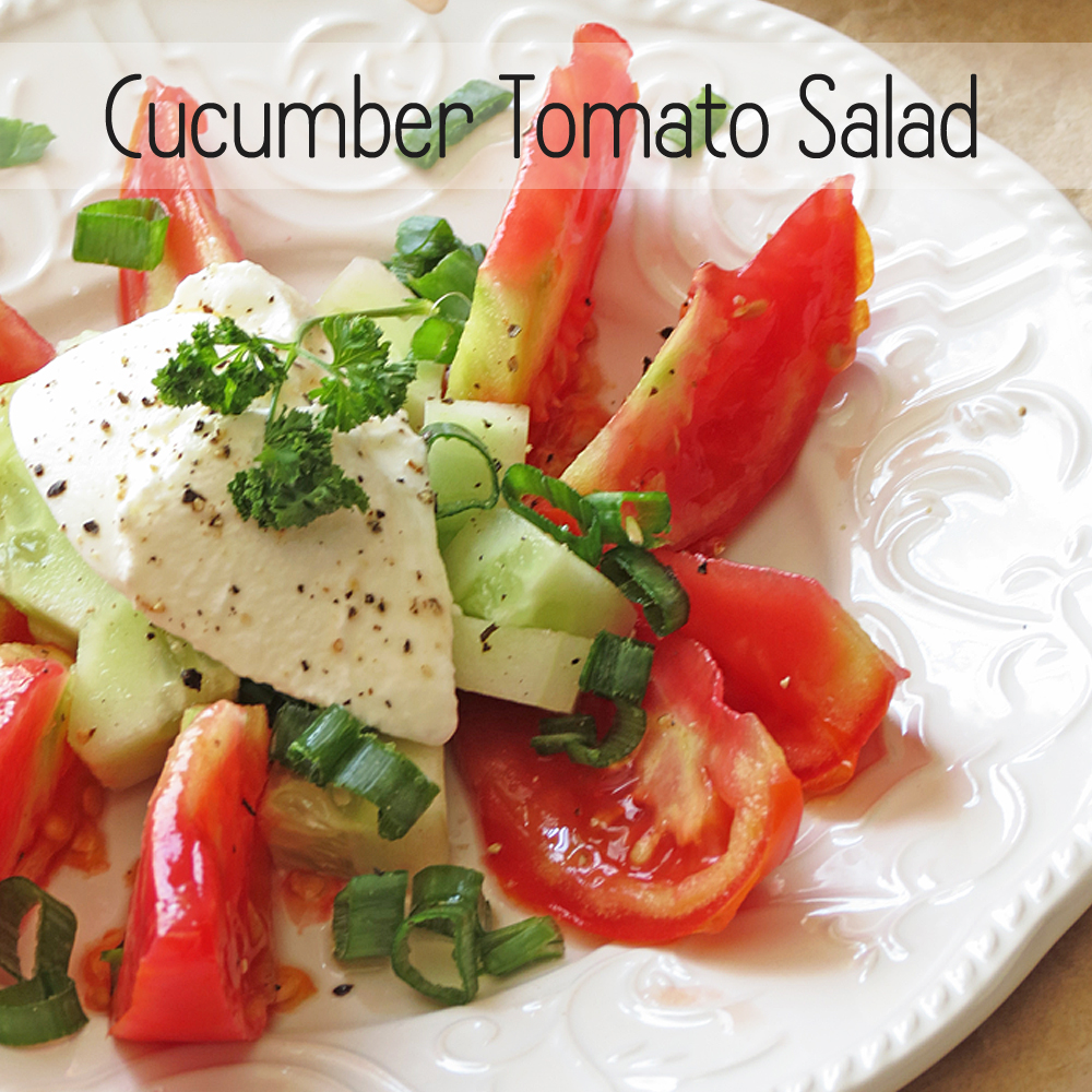 Cucumber Tomato Salad I Smart Party Planning