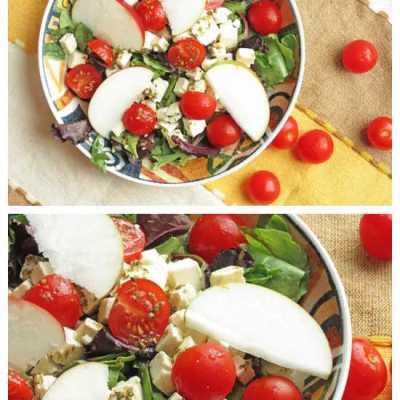 The Most Delicious Easy Feta Apple Salad