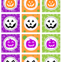 Halloween printables scary pumpkins