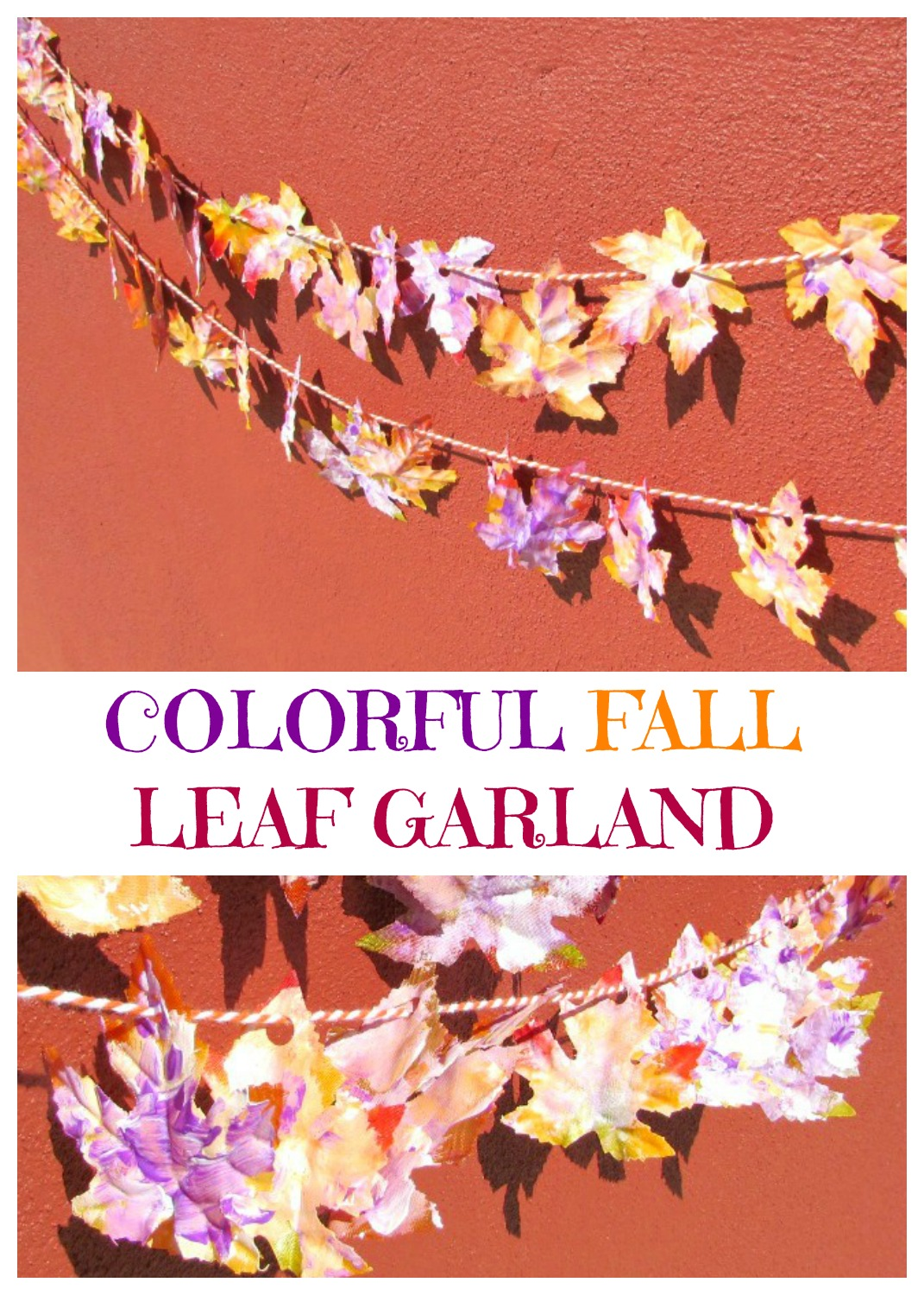 Colorful Fall Leaf Garland