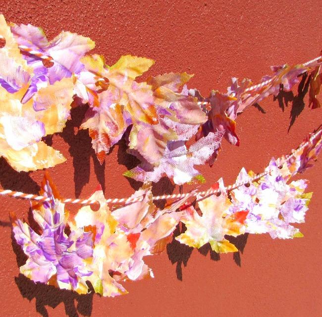 Fall leaf garland craft