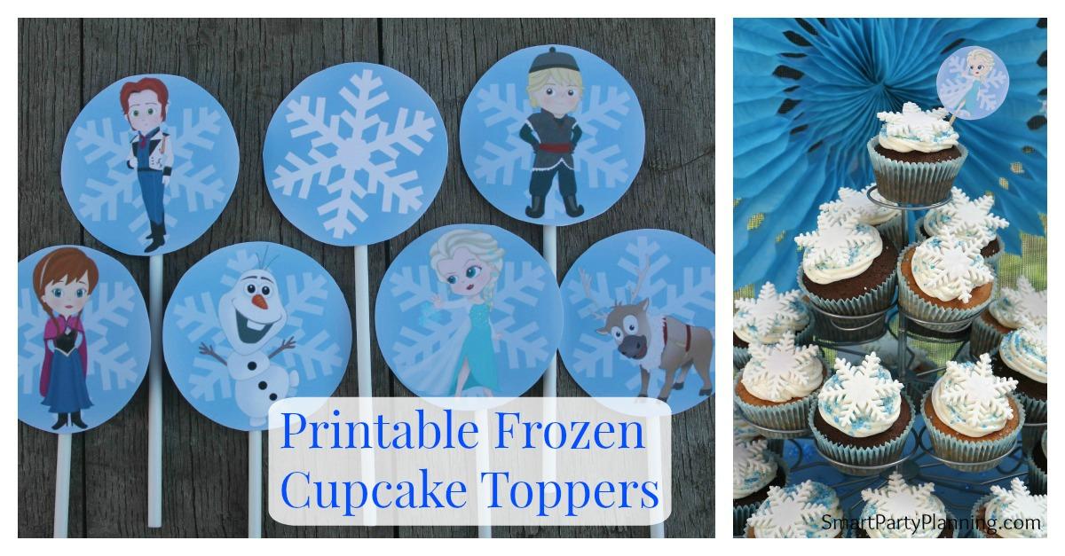Frozen Cupcake Topper Printable