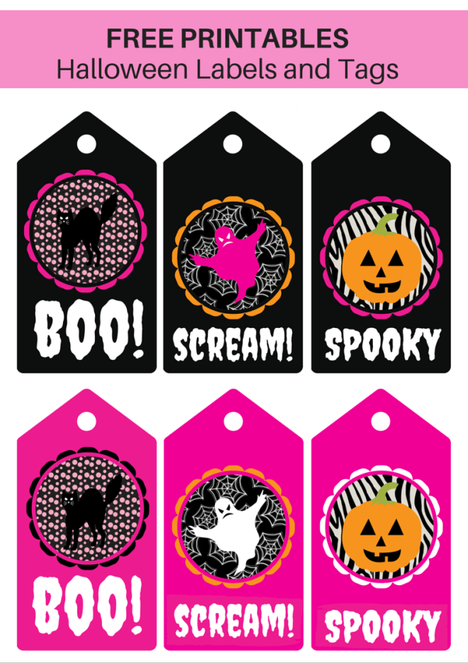 Printable Halloween Labels and tags