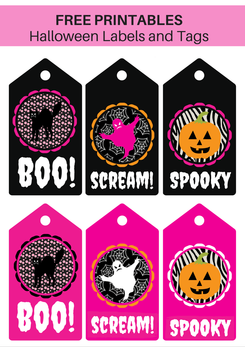 graphic about Printable Halloween Tags named Cost-free Printable Halloween Labels and Tags