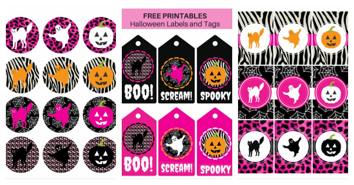 Halloween Labels and Tags