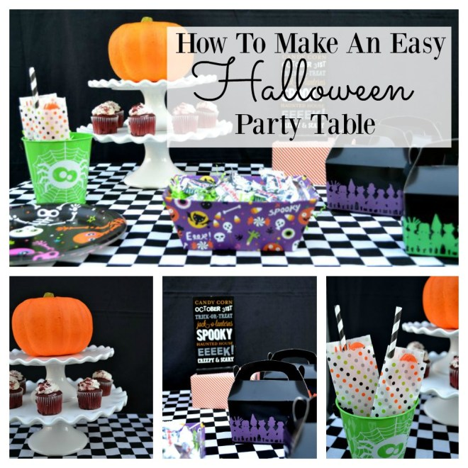 How to make an easy Halloween Party Table