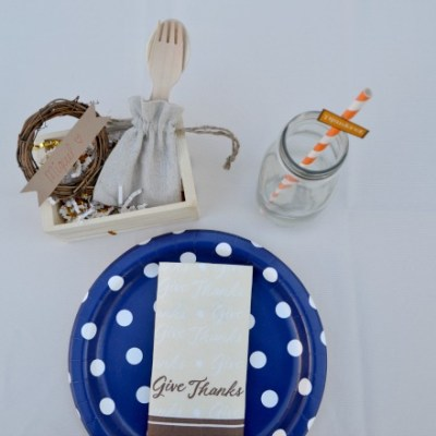 Easy Kids Thanksgiving Place Setting