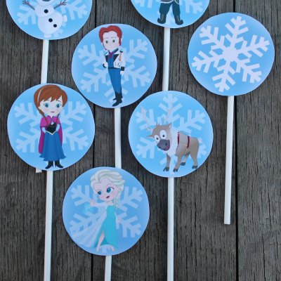 The Best Free Printable Frozen Cupcake Toppers