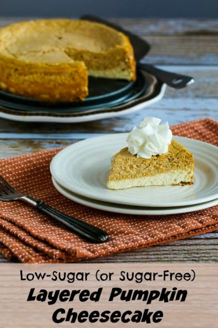 low sugar pumkin cheesecake