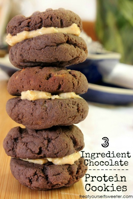 Choc protein cookies