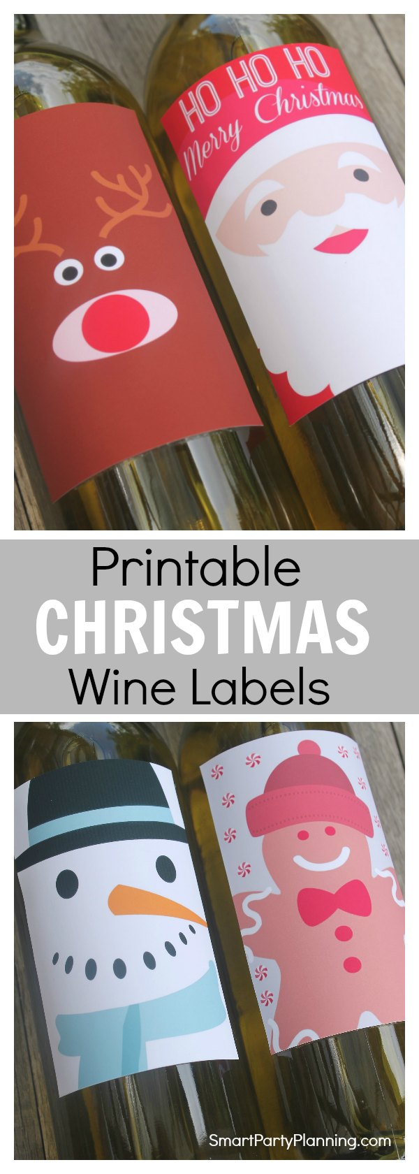 These instant printable Christmas wine labels will add the final festive touch to your holiday preparations. They are great to use at Christmas parties, or to use for gifts. You can guarantee that the whole family will love them. The printable Christmas wine labels are easy to download and all you need to do is attach them to your favorite bottle of wine. This is the perfect Christmas craft project.