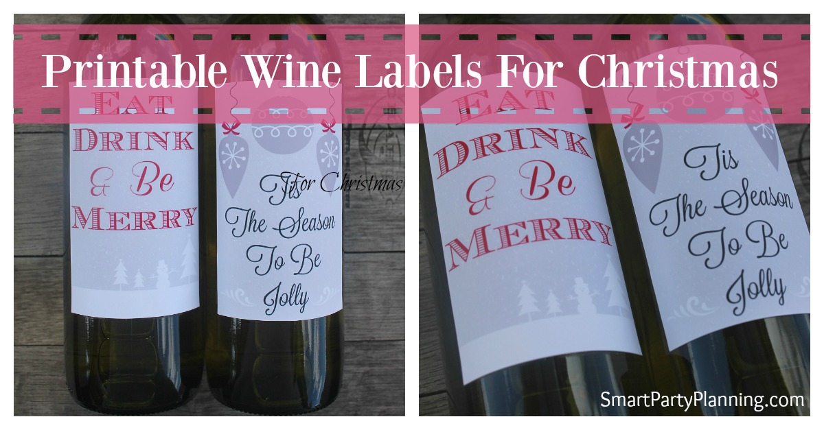 These wine labels for Christmas will make gift giving incredibly easy. The labels give a personal and thoughtful touch whilst bringing some festive cheer.