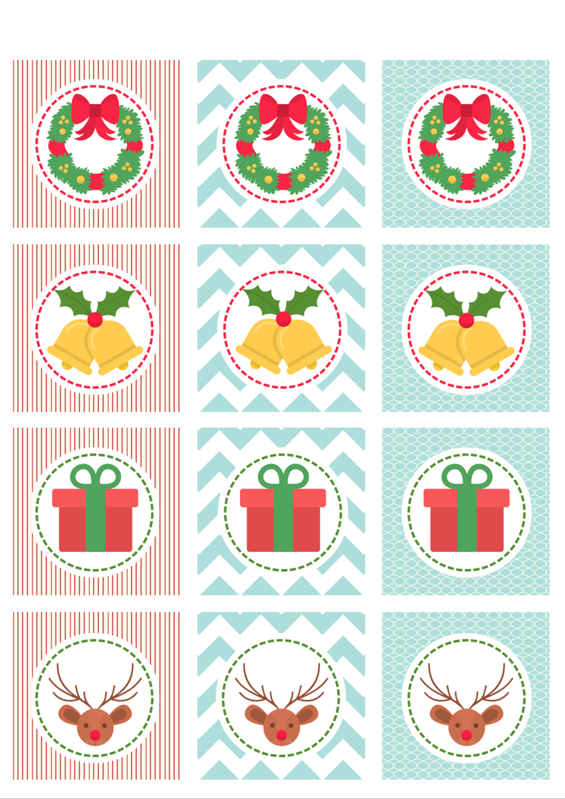 Christmas cupcake toppers 1